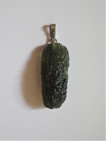 Кулон с молдавитом