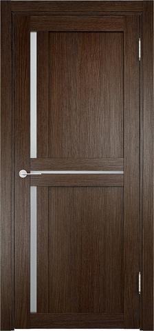 Дверь Eldorf Берлин 01, стекло Сатинато, цвет дуб табак, остекленная