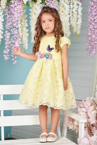 Нарядное платье лимонного цвета (арт.04.01)