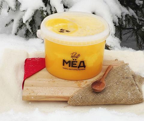 Мёд цветочный Ивановка 2018 3 литра (4,3кг)