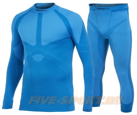 Комплект термобелья Craft Warm Blue мужской капри