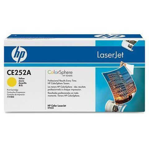 Картридж HP CE252A для HP Color LaserJet CM3530, CM3530fs, CP3525dn, CP3525n, CP3525x (желтый, 7000 стр.)