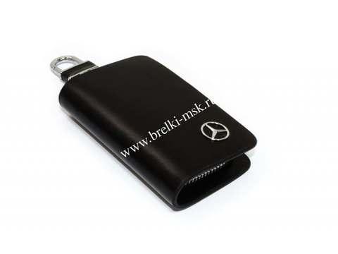 Ключница кожаная с логотипом Mercedes-Benz (Мерседес Бенц)