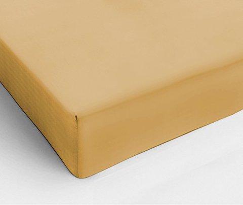 Простыня на резинке 160x200 Сaleffi Tinta Unito с бордюром ореховая