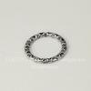 Коннектор - кольцо с узором 18 мм (цвет - античное серебро)