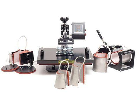 Термопресс GRAFALEX 8-в-1 для маек, тканей, кружек, тарелок, бейсболок