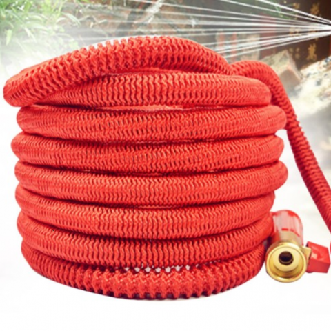 Новый чудо шланг Magic Garden Hose (Ультра) красный 100 FT (10 метров на 30 метров).