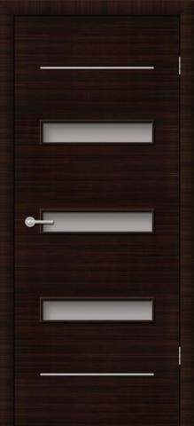 Дверь Фрегат ПО-М5 Трио, матовое, цвет венге, остекленная