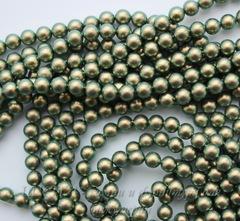 5810 Хрустальный жемчуг Сваровски Crystal Iridescent Green круглый 6 мм, 5 штук