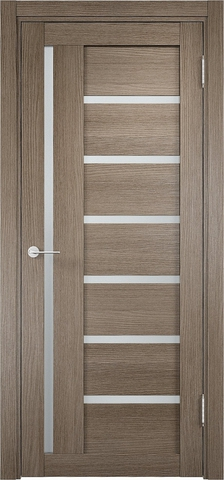 Дверь Eldorf Берлин 02, стекло Сатинато, цвет дымчатый дуб, остекленная