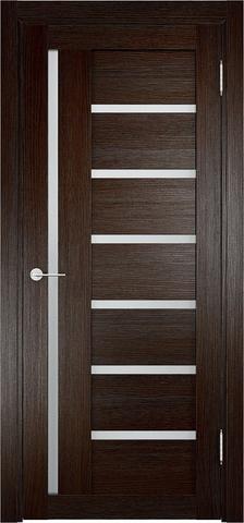 Дверь Eldorf Берлин 02, стекло Сатинато, цвет тёмный дуб, остекленная