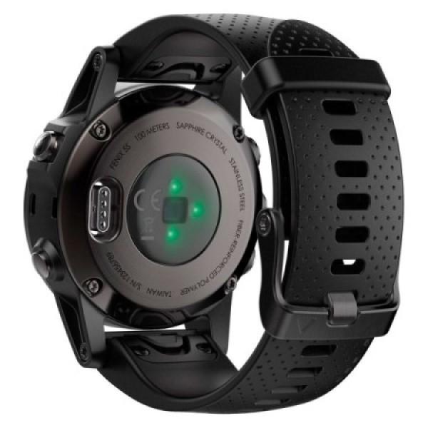 Fenix 5S Sapphire черные с черным ремешком