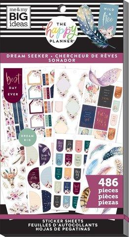 Блокнот со стикерами для ежедневника -Happy Planner Sticker Value Pack-  Dream Seeker, 486 шт