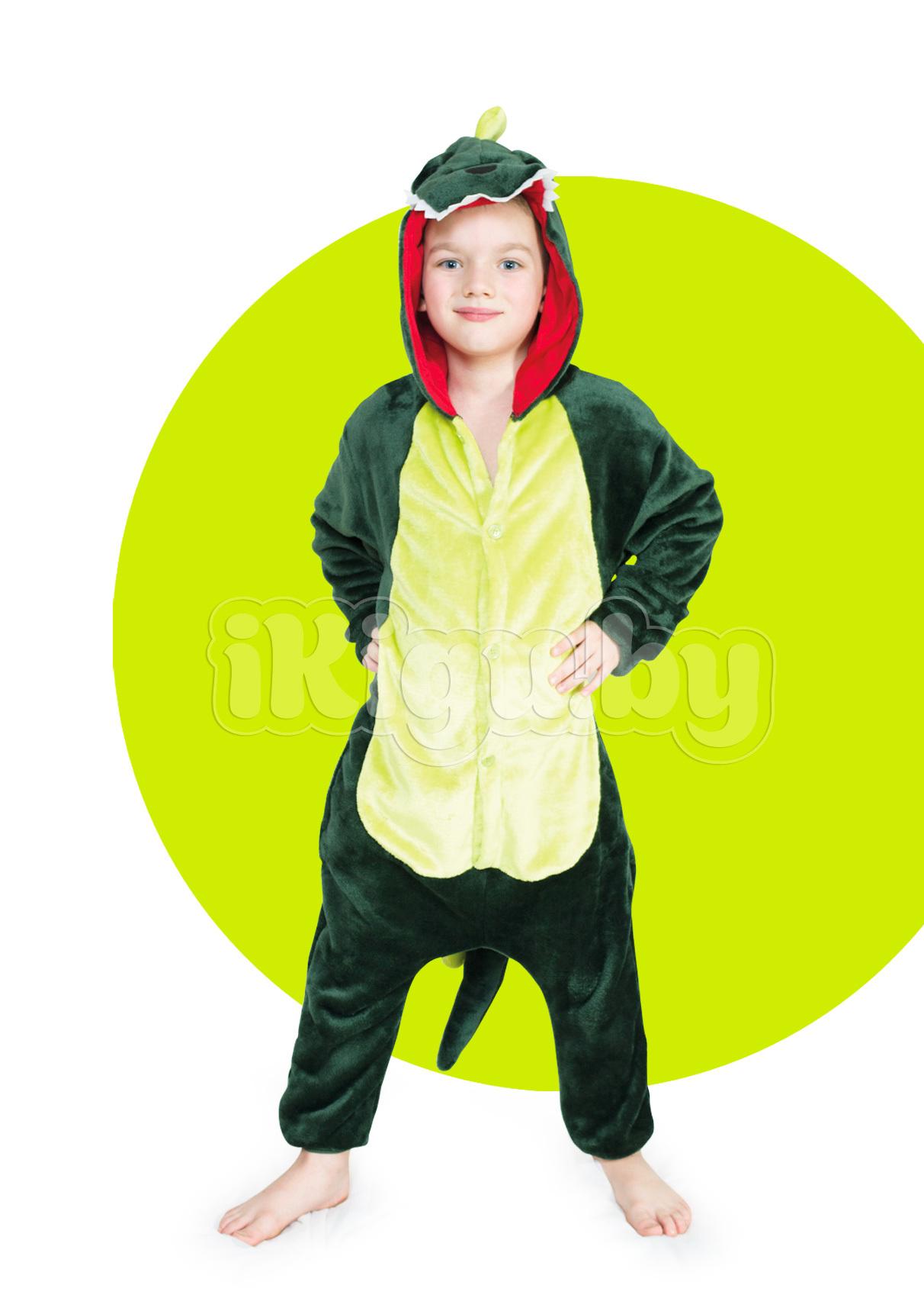 """Детские пижамы кигуруми """"Динозавр Зеленый"""" детки_динозавр1_IGP8264.jpg"""