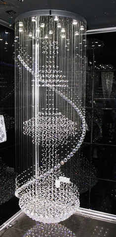 cristal  cascade chandelier  11-04  by Cristallino