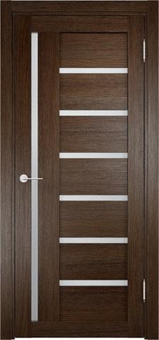 Дверь Eldorf Берлин 02, стекло Сатинато, цвет дуб табак, остекленная