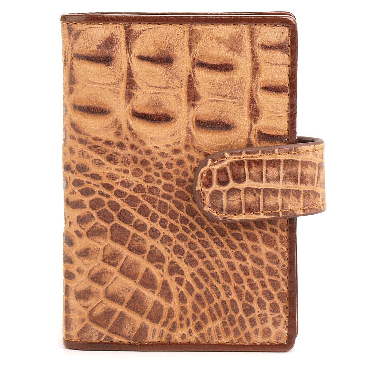п54 FD крокодил коричневый  (визитница)