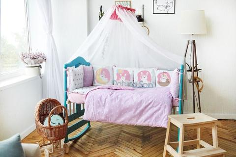 Комплект постельного белья в кроватку Панели 3-10