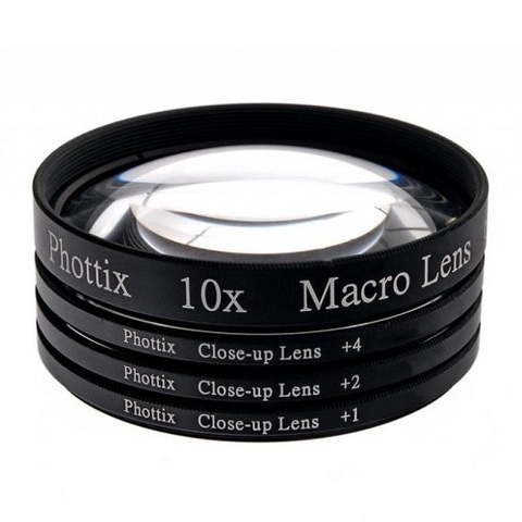 Макролинзы Phottix Macro Lens Filters +1+2+4 10x 72mm
