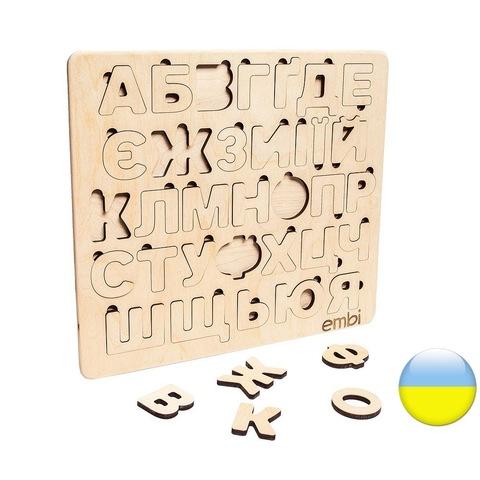 Деревянная азбука украинский язык (размер макси)