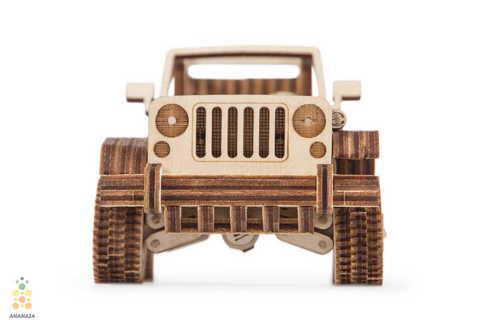 Сафари Джип 4х4 от Wood Trick - Деревянный конструктор, сборная модель, 3D пазл