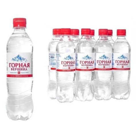 Вода минеральная  Горная вершина  газированная, 0,5 л, 12 шт./уп.