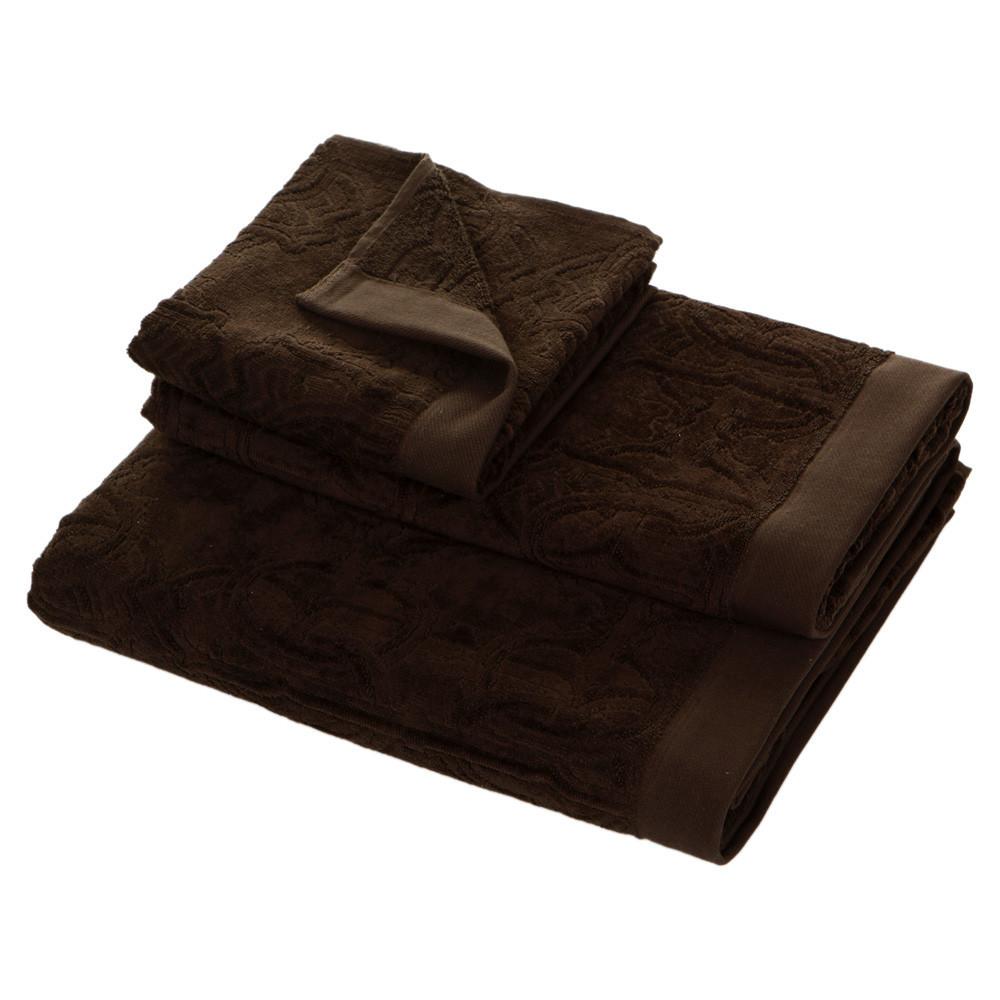 Наборы полотенец Набор полотенец 2 шт Roberto Cavalli Logo коричневый polotentse-roberto-cavalli-logo-korichnevoe-italiya.jpg