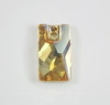 3500 Подвеска Сваровски Lochrose Crystal Golden Shadow (12,5х7 мм)