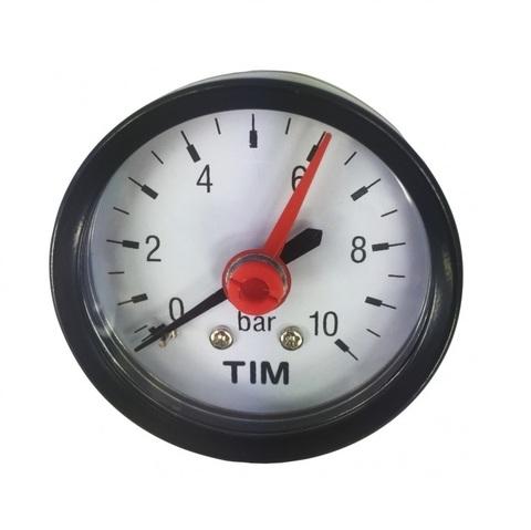 Манометр давления Tim 10 бар аксильный