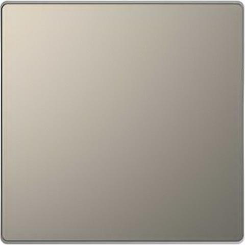 Выключатель одноклавишный проходной. Цвет Никель. Merten D-Life System Design. MTN3116-0000+MTN3300-6050