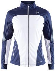 Утепленная ветрозащитная куртка для бега Craft Sharp XC Blue-White женская