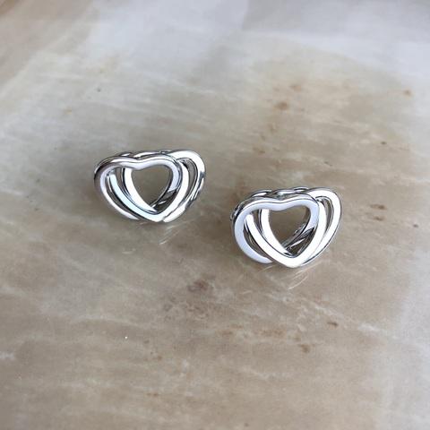 Серьги Трисе, серебряный цвет