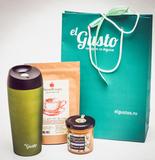 Подарочный набор «Сладкая Жизнь» чай, термокружка и мед-суфле