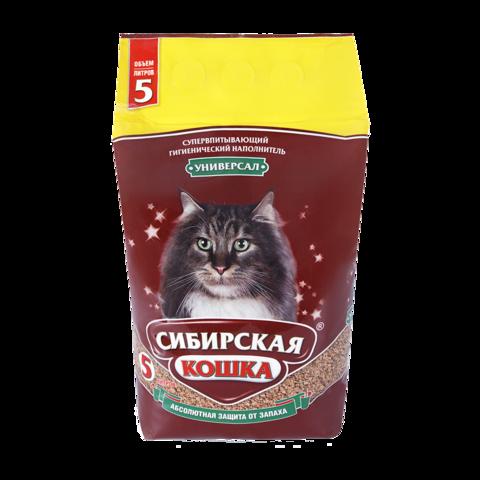 Сибирская кошка Универсал Наполнитель для туалета кошек впитывающий