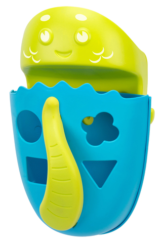 Органайзер-сортер DINO с полкой для игрушек и банных принадлежностей. Цвет голубой.