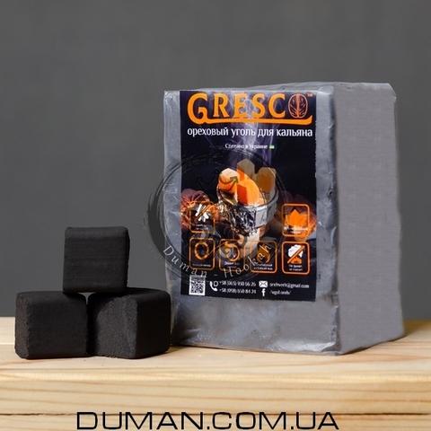 Натуральный Ореховый уголь Gresco (Греско) |0,5кг 36куб 25*25мм