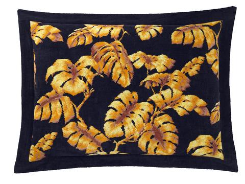 Наволочка декоративная 50x70 шенилловая Feiler Tarovine Midnight черная