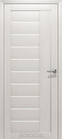 Дверь Восход Бета, стекло сатин, цвет лиственница снежная, остекленная