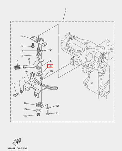 Плата для лодочного мотора F20 Sea-PRO (17-8)