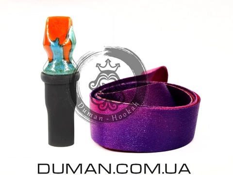 Персональный мундштук Gusto Bowls (Густо Болс) для кальяна |Orange-Green Gradient