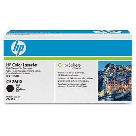 Картридж HP CE260X для HP Color LaserJet Enterprise CP4025n, CP4025dn, CP4525n, CP4525dn, CP4525xn, CM4540 mfp (черный, увеличенной емкости, 17000 стр.)