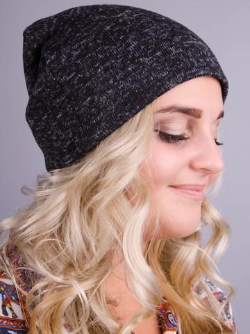 Фэшн. Молодёжные женские шапки. Графит ангора флис.