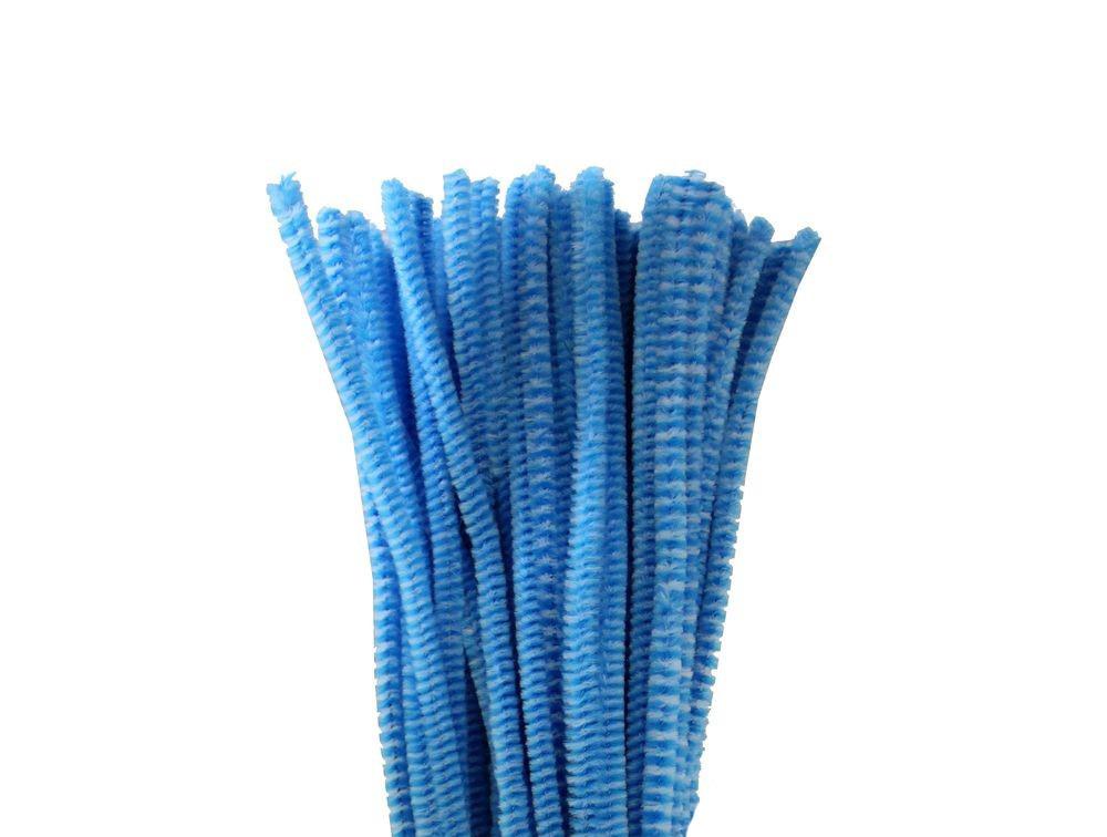 Проволока с ворсом (синельная) для поделок и декорирования 30 см (набор 10 шт).