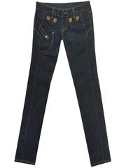 5587 джинсы женские, темно-синие