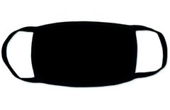 Многоразовая повязка для лица (черная)