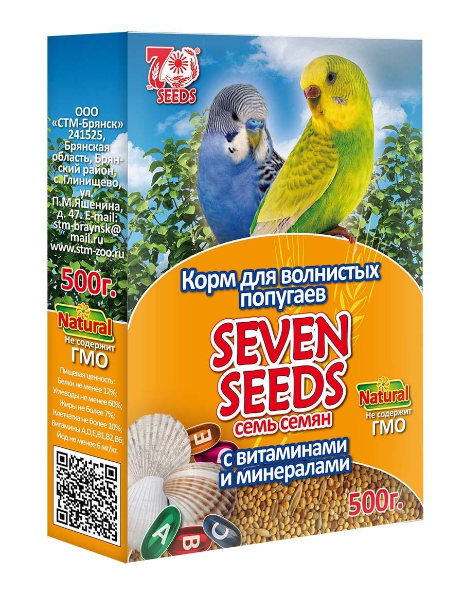 Кормление и лакомства Корм для волнистых попугаев с витаминами и минералами Seven Seeds 43.jpg