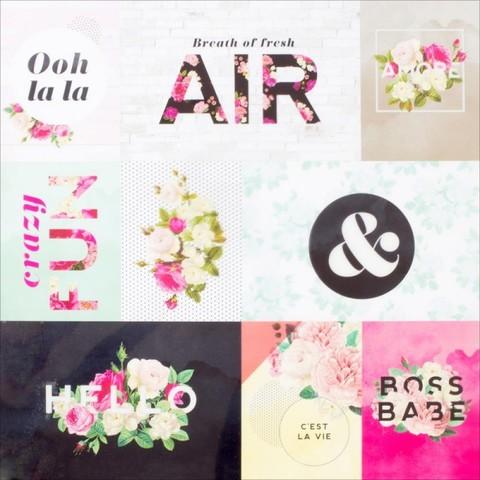 Ацетатный лист с карточками C'est La Vie Pink Paislee 30х30см