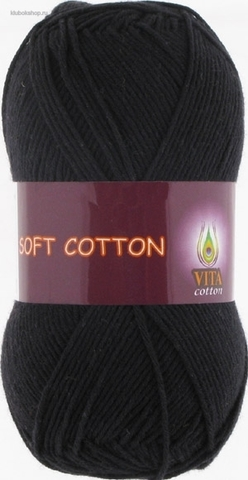 Пряжа Soft cotton 1802 Черный