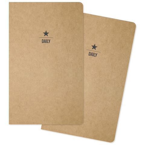 Комплект внутренних блоков  (13х21 см ) для блокнотов -2 шт- Carpe Diem Traveler's Notebook Inserts- Two Daily, 31 Days Each