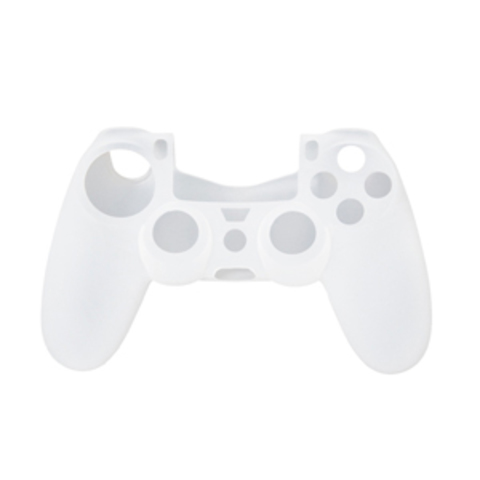PS4 Чехол для геймпада DualShock 4 (белый) + накладки